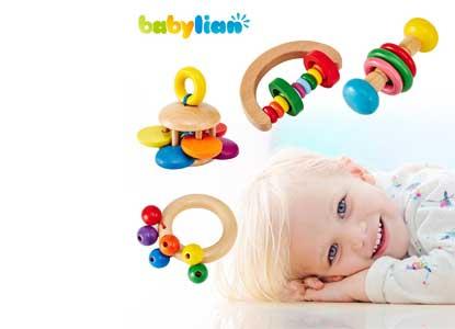 Babylian Educational Grasping Rattles