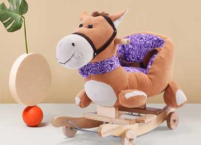 Costzon Baby Kids Toy Plush Rocking Horse