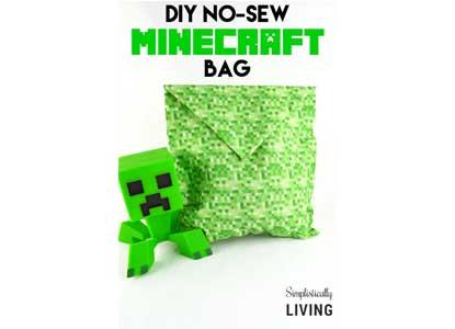 DIY No-Sew Minecraft Bag
