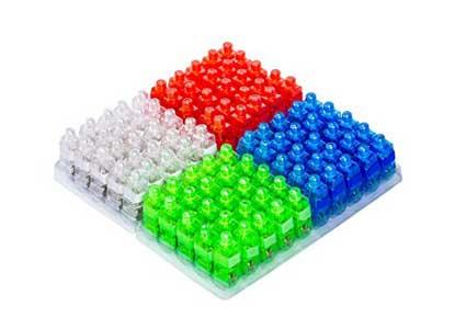 Dennov 100 LED Finger Lights Beams Light Up Toys Party Favors Supplies, Assorted Color
