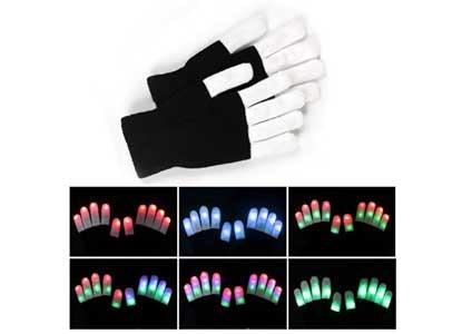 LED Gloves, Vitalismo Finger Lights Toys with Lights