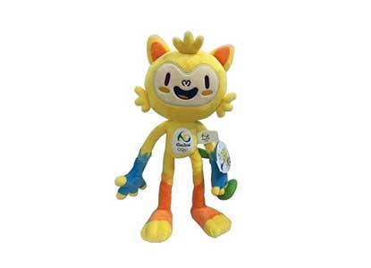 Mascot Vinicius Stuffed Plush Doll Toy 2016 Brazil Rio de Janeiro Olympic Toys