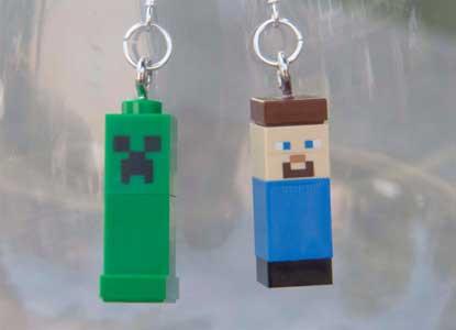 Minecraft Figure Earrings