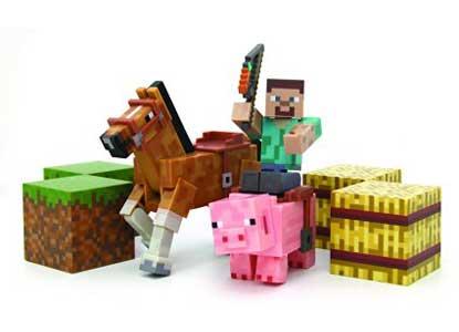 Minecraft Figure Set Overworld Saddle Pack