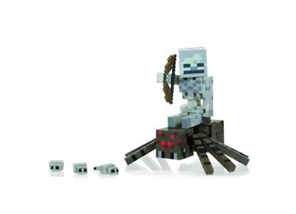 Minecraft- Spider Jockey Pack Action Figure