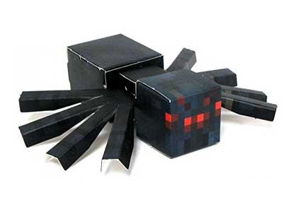 Minecraft Papercraft Cave Spider