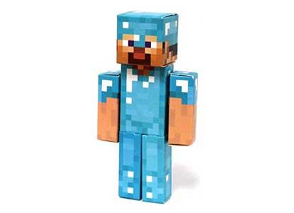 Minecraft Papercraft Diamond Steve