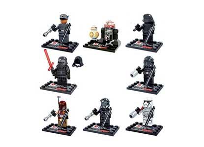 NW 8 Pcs Dargo Building Blocks Super Heroes Star Wars Minifigures