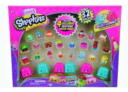 Shopkins Season 5 Super Shopper Pack, Includes 4 Exclusive Shopkins Hidden Inside