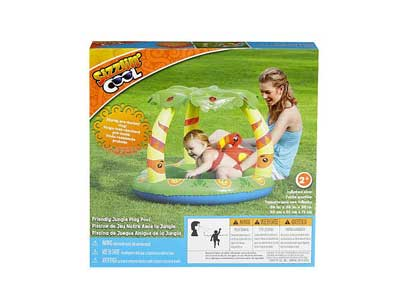 Sizzlin' Cool Friendly Jungle Canopy Play Kiddie Pool