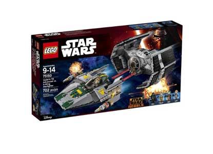 Vader's TIE Advanced vs. A-Wing Starfighter 75150
