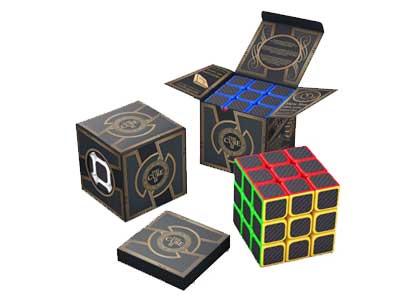 aGreatLife 3x3x3 Carbon Fiber Sticker Speed Cube