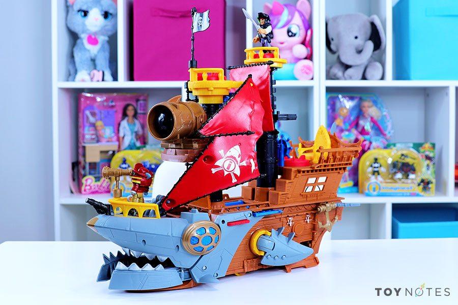 imaginext shark bite pirate ship