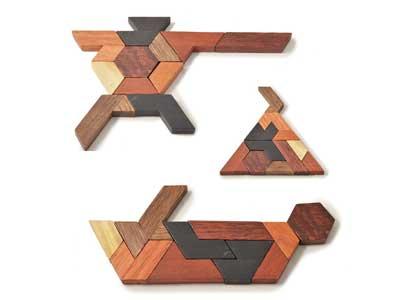 12 pc Tangram Jigsaw Puzzle