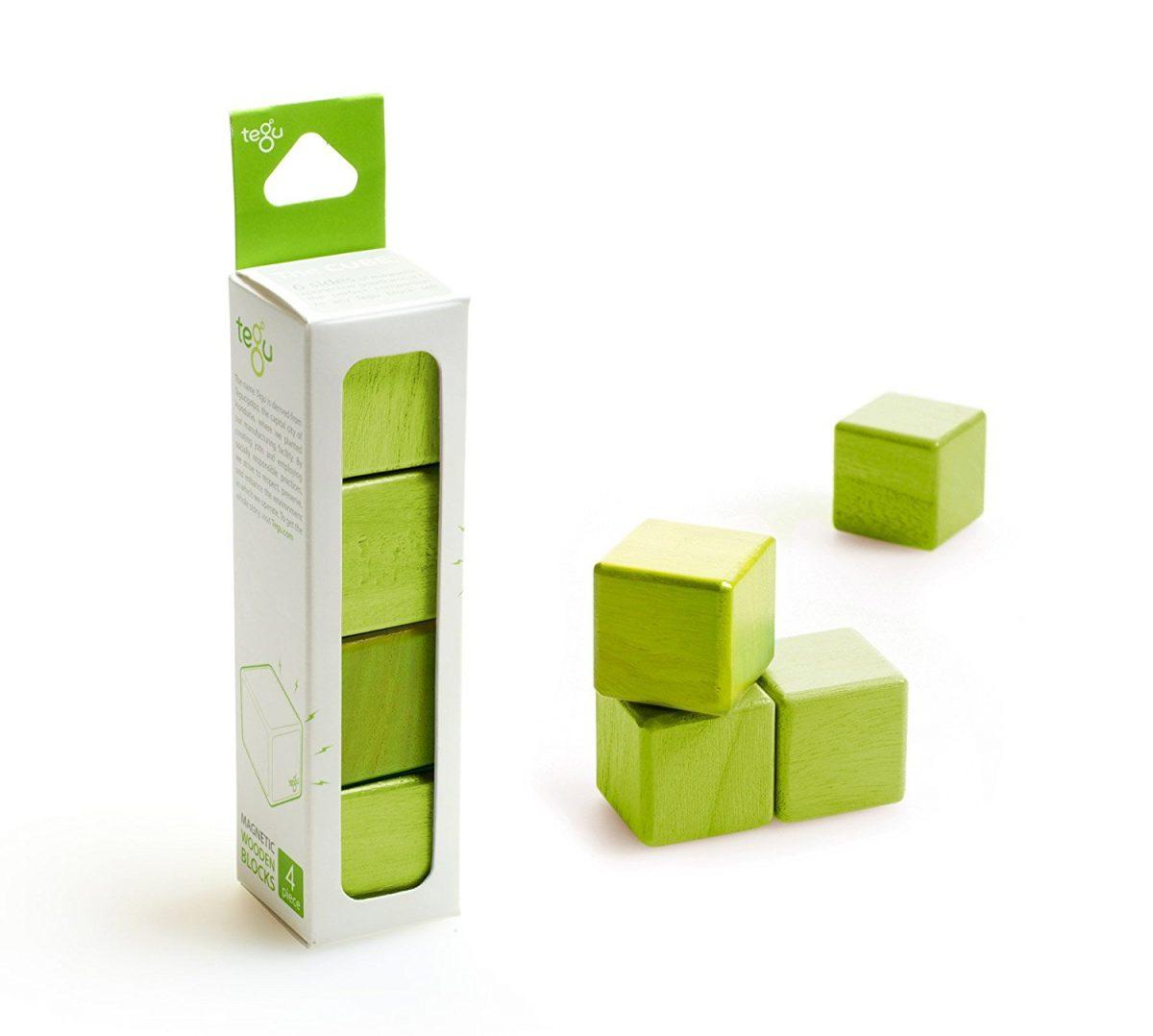 4 Piece Tegu Magnetic Wooden Block Cube Set