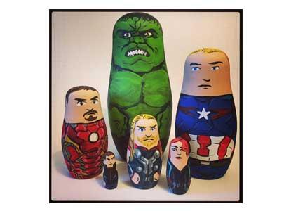 Avengers 2 Age of Ultron Nesting Doll set