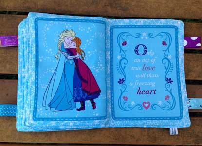 Children / Baby Crinkle Cloth Book Toy: Frozen Winter Magic