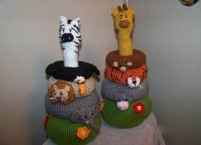 Crochet Jungle Stacker