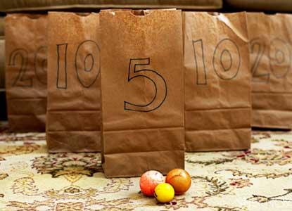 DIY Brown bag bounce