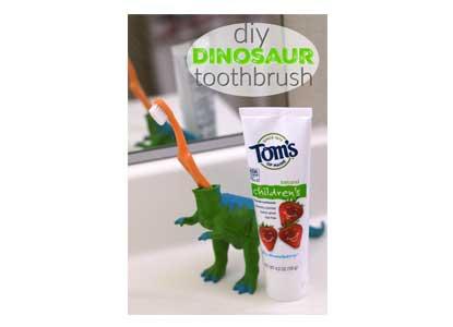 DIY Dinosaur Toothbrush