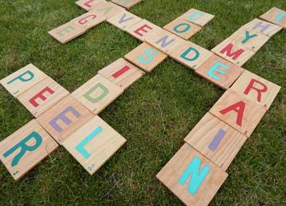 DIY Lawn Scrabble