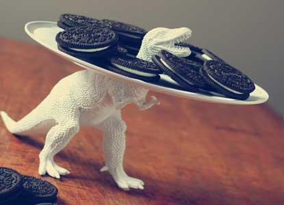 DIY Serving Dish Dinosaur