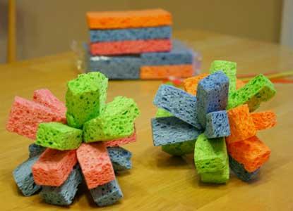 DIY Water Sponge Toys