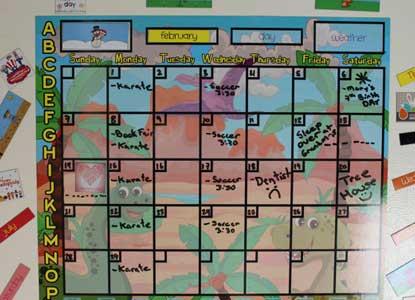 Dinosaur Dry Erase ALL Magnetic Child Calendar 24