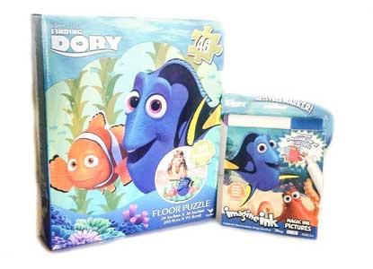 Disney-Pixar Finding Dory Floor Puzzle 46 Pieces & Disney Finding Dory Imagine Ink Activity Book Bundle