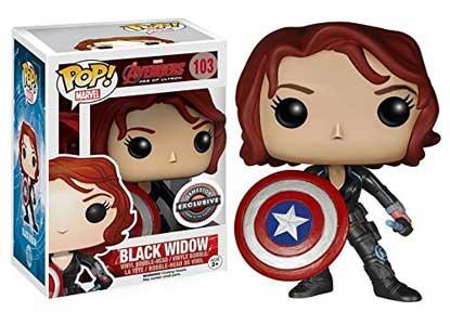 Funko Pop Marvel Avengers Age of Ultron Black Widow With Shield
