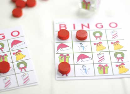 Holiday Bingo Game