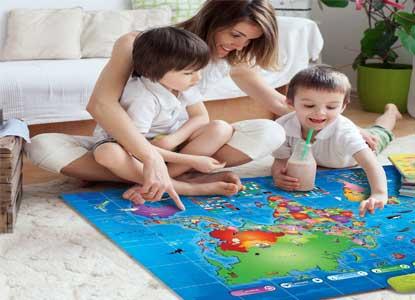 L&C Interactive Kids World Map