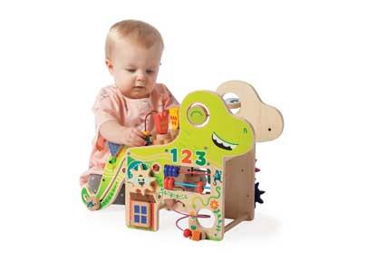 Manhattan Toy Playful Dino Wooden Toddler Activity Center