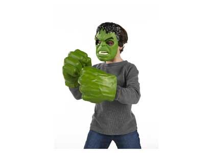 Marvel Avengers Age of Ultron Hulk Mask and Gamma Green Smash Fists Costume Set