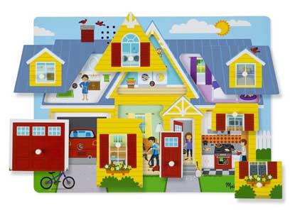 Melissa & Doug Around the House Sound Puzzle (8 Piece)