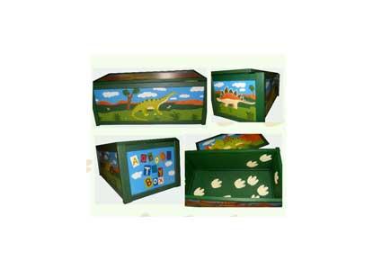 Personalized Dinosaur Toy Box