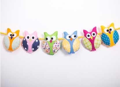 Pram chain. Owl toy.