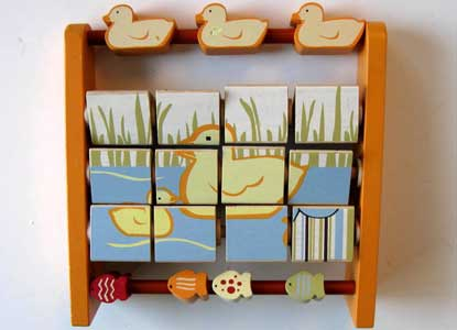 Vintage Baby toy, Spinning Blocks,