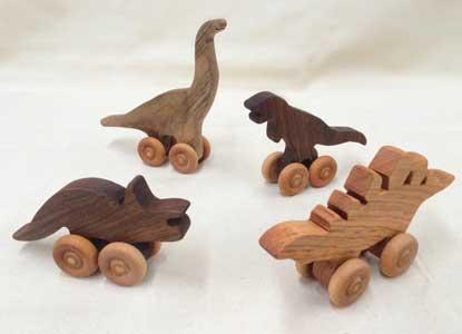 Wood Dinosaur Set wood dinosaurs handmade dinosaurs toys