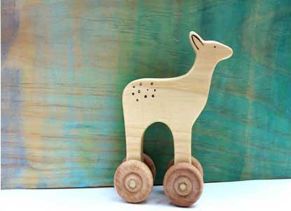 Wooden Deer Push Toy