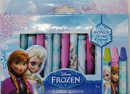 Disney Frozen 12 Count Jumbo Crayon Crayons Set