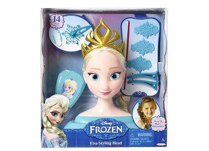 Frozen Disney Elsa Styling Head Playset