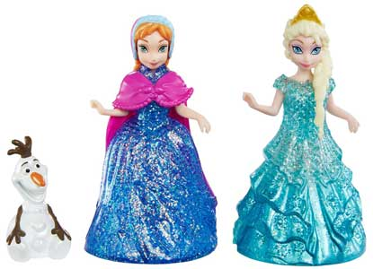 Glitter Glider Anna, Elsa and Olaf Doll Set