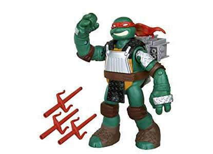 Ninja Turtles Sai Throwing Raphael Figure