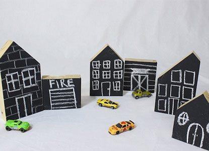 Diy Chalkboard Town
