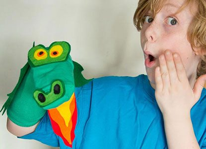 Diy No Sew Dragon Sock Puppet