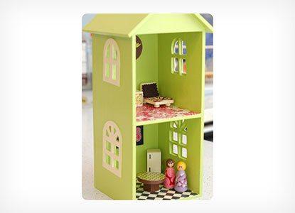 Diy CD Shelf Dollhouse