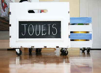 Diy Crate On Wheels