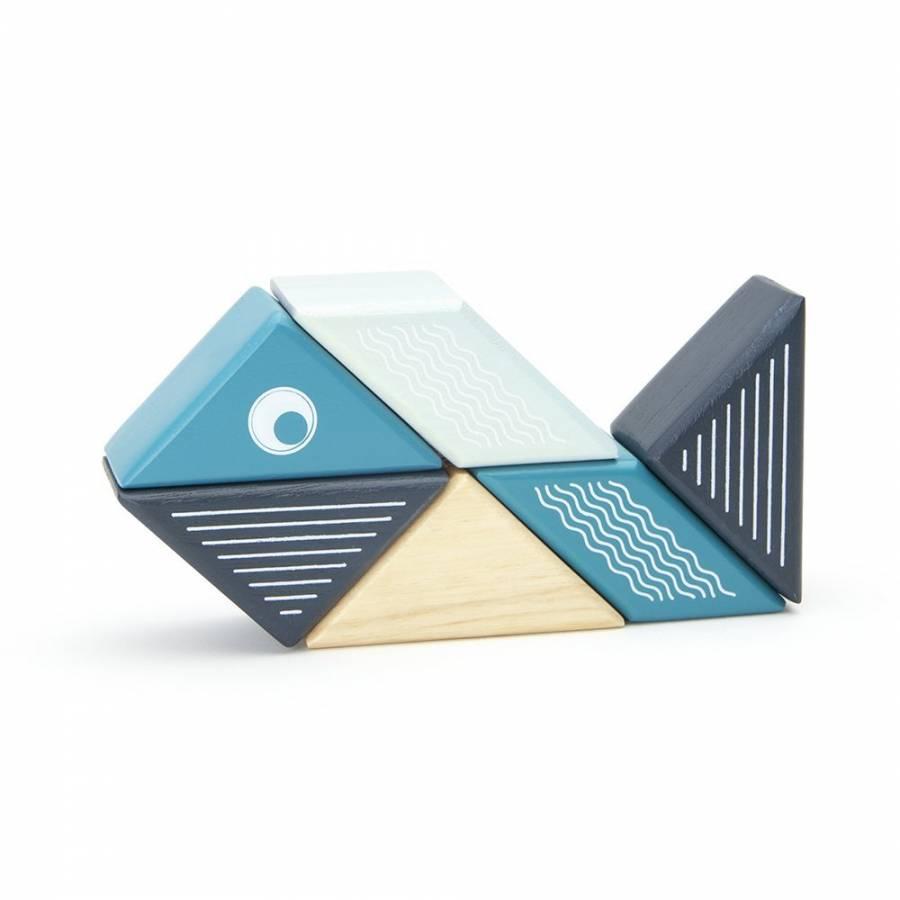 Tegu Travel Pals Whale Wooden Building Toy Blocks