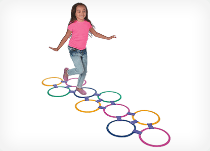Plastic Hopscotch Outdoor Ring Game